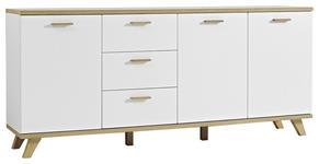 SIDEBOARD 192/85/40 cm  - Eichefarben/Weiß, Design, Holz/Holzwerkstoff (192/85/40cm) - Xora
