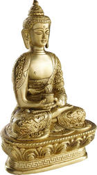 BUDDHA - barvy zlata, Lifestyle, kov (18/13/9cm) - AMBIA HOME