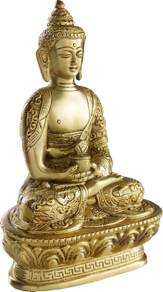 BUDDHA - guldfärgad, Lifestyle, metall (18/13/9cm) - AMBIA HOME