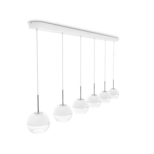 LED-HÄNGELEUCHTE - Weiß, KONVENTIONELL, Metall (134cm)