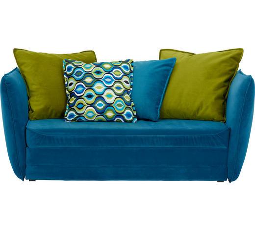JUGEND- UND KINDERSOFA in Blau, Grün Textil   - Blau/Schwarz, Design, Kunststoff/Textil (145/63-77/75cm) - Ti`me