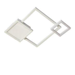 LED-TAKLAMPA - vit, Design, metall/plast (55/42.5/6cm) - Novel