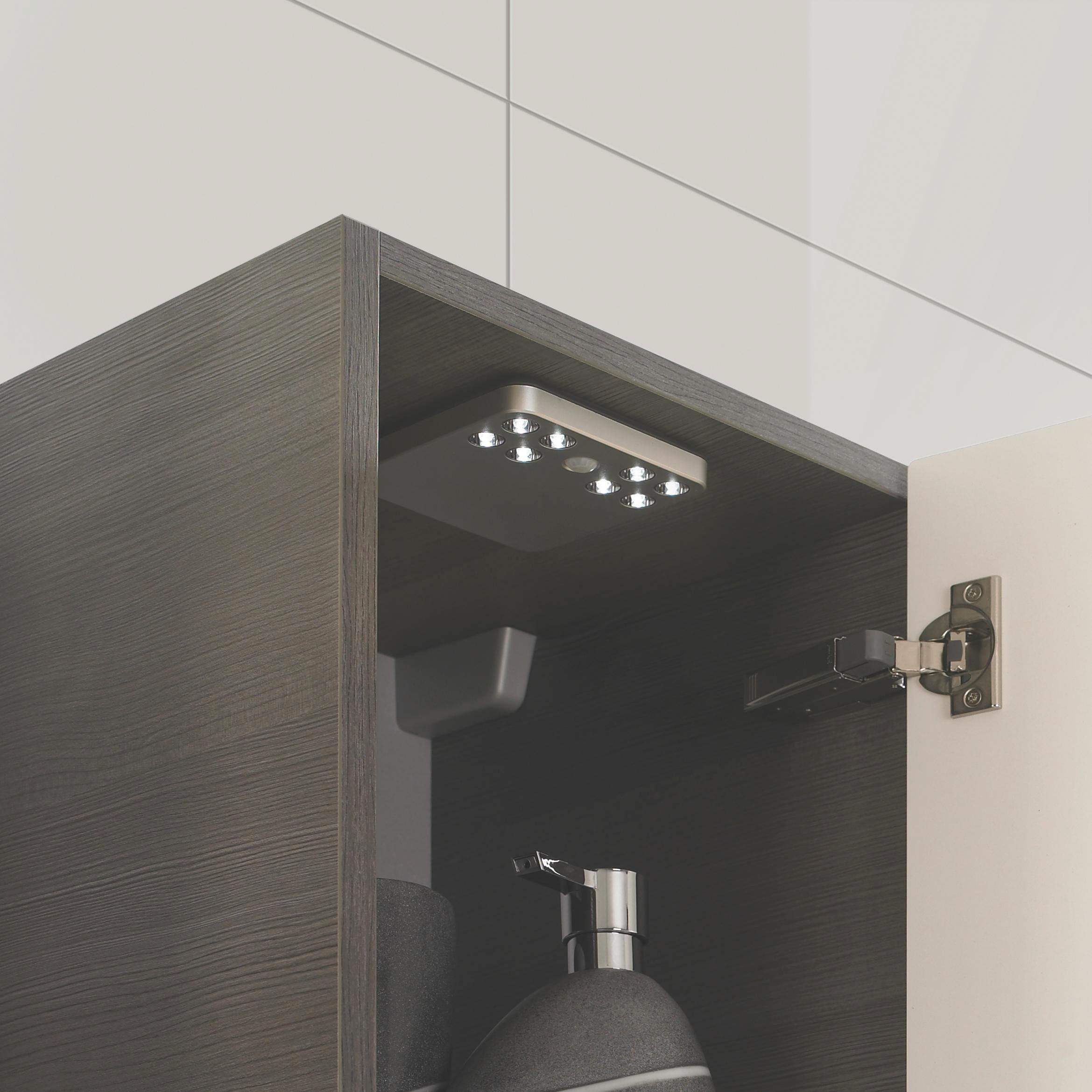 BADEZIMMER - Graphitfarben, Design, Kunststoff (102cm) - SADENA