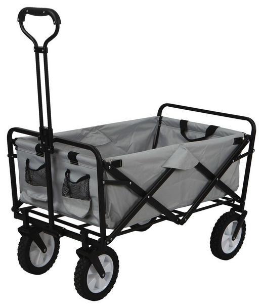 BOLLERWAGEN Grau - Grau, Basics, Kunststoff/Metall (89/48/59cm)