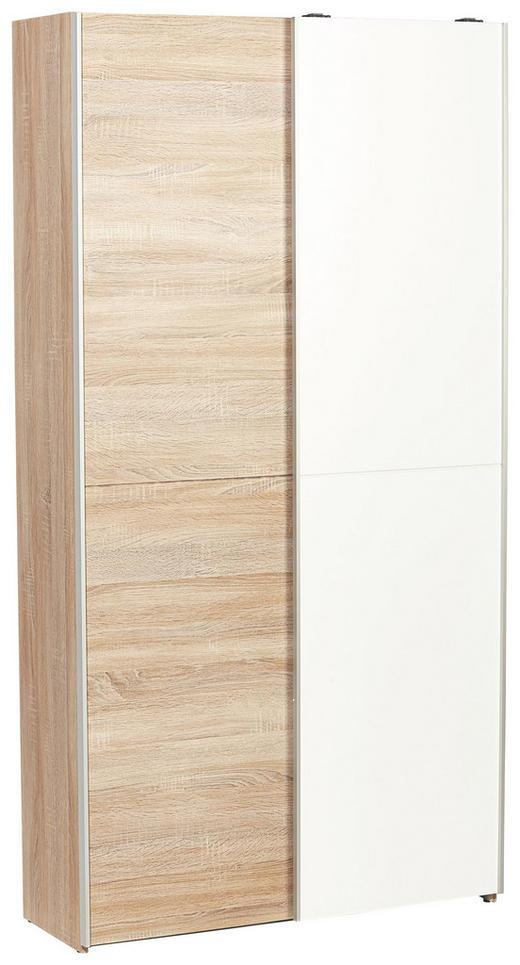 SCHUHSCHRANK Sonoma Eiche, Weiß - Weiß/Sonoma Eiche, Design, Holzwerkstoff (100/195/38cm) - Boxxx