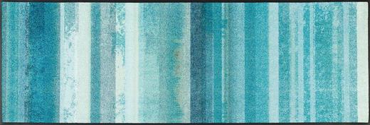 FUßMATTE 60/180 cm Streifen Hellblau, Türkis - Türkis/Hellblau, Kunststoff/Textil (60/180cm) - Esposa