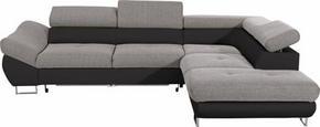SOFFA - kromfärg/grå, Design, metall/textil (280/235cm) - Carryhome
