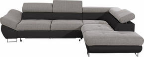 SOFFA - kromfärg/grå, Design, metall/textil (280/235cm) - Hom`in