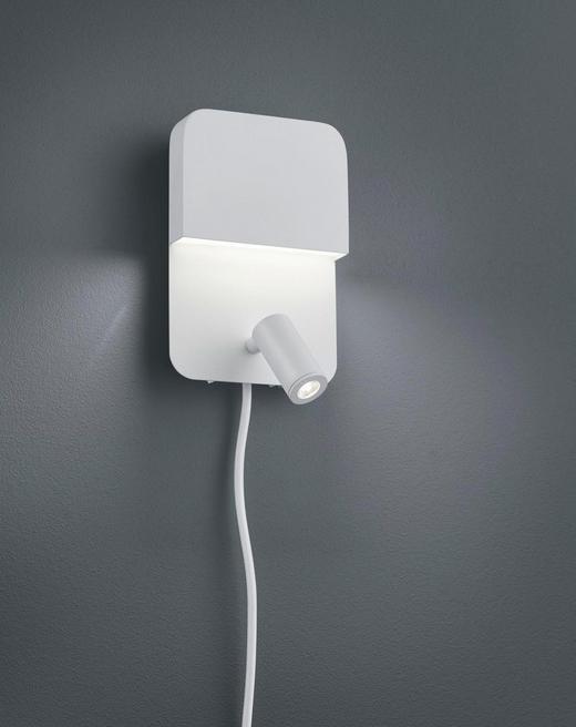 LED-WANDLEUCHTE - Weiß, Design, Metall (20/13,5/11cm)