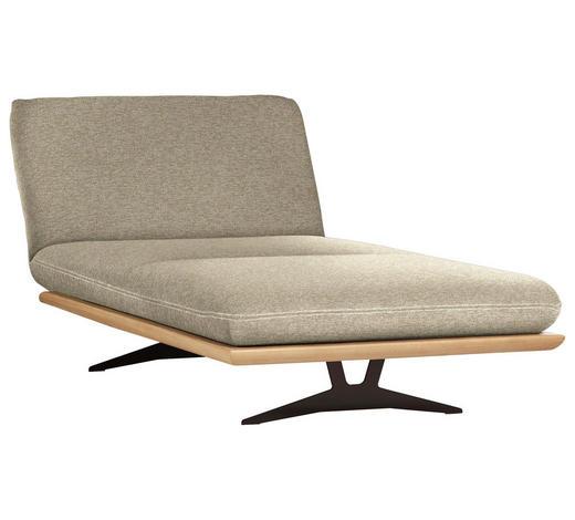 OTTOMANE Beige  - Beige/Schwarz, Design, Holz/Textil (114/92/165-218cm) - Livetastic