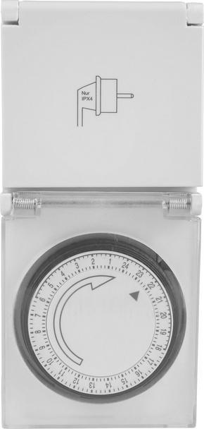 TIMER - vit, Basics, metall/plast (15,6/7,3/8,4cm) - Homeware