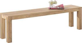 SITZBANK Wildeiche massiv Eichefarben  - Eichefarben, Design, Holz (160/45/33cm) - Carryhome