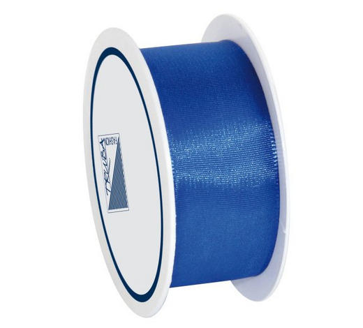 GESCHENKBAND  - Blau, Basics, Textil (2.5/1/7cm)