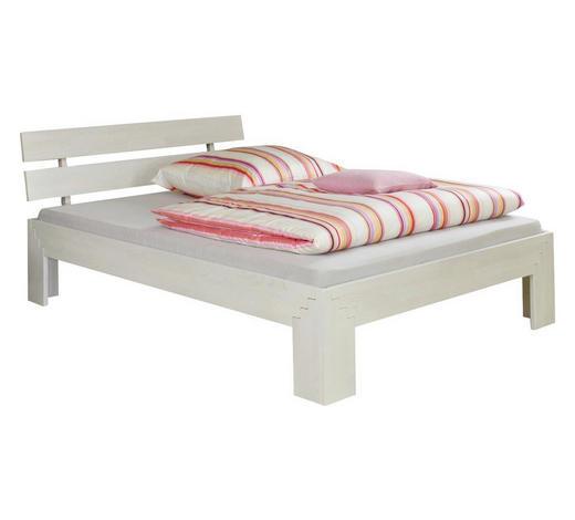 FUTONBETT in Holz Weiß, Buchefarben - Buchefarben/Weiß, Design, Holz (180/200cm)