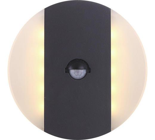 AUßENLEUCHTE - Dunkelgrau/Transparent, Design, Kunststoff/Metall (17/8,5cm)