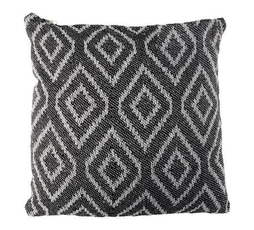 ZIERKISSEN  - Schwarz/Weiß, LIFESTYLE, Textil (40/40cm)