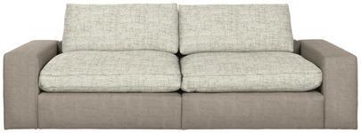 MEGASOFA in Textil Braun - Schwarz/Braun, Design, Kunststoff/Textil (266/84/123cm) - Hom`in