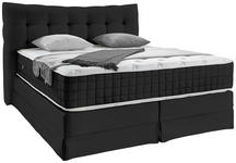 Boxspringbett mit Kontinental Matratze 200x220 Domino - Schwarz, KONVENTIONELL, Holz (200/220cm) - James Wood