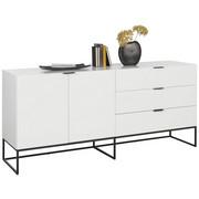 KOMODA SIDEBOARD - bílá/černá, Design, kov/kompozitní dřevo (180/80/45cm) - Ambia Home