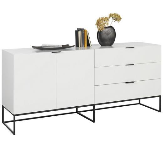 KOMODA SIDEBOARD, bílá - bílá/černá, Design, kov/kompozitní dřevo (180/80/45cm) - Ambia Home