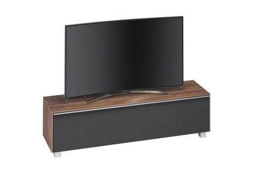TV-ELEMENT Eichefarben, Schwarz - Eichefarben/Schwarz, Design, Holzwerkstoff/Kunststoff (160/42/43cm)