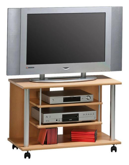 TV-ELEMENT Buchefarben, Silberfarben - Buchefarben/Silberfarben, Design, Kunststoff (80/55/40cm)