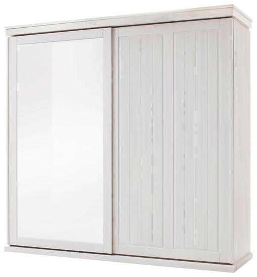 SCHWEBETÜRENSCHRANK 2  -türig Kiefer massiv Weiß - Weiß, Design, Glas/Holz (223/219,5/66,5cm) - Carryhome