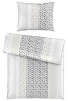 POSTELJINA - bijela/siva, Design, tekstil (140/200cm) - Novel