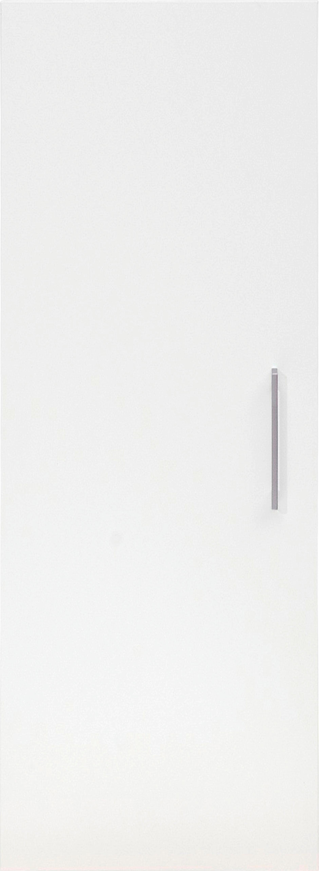 TÜR 43/96/1,5 cm Weiß - Silberfarben/Weiß, Design, Kunststoff (43/96/1,5cm) - CS SCHMAL