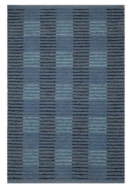 HANDWEBTEPPICH  140/200 cm  Blau - Blau, Weitere Naturmaterialien (140/200cm) - Linea Natura