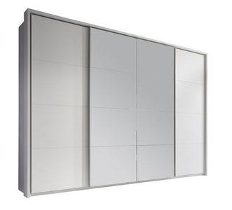 ORMAR SA KLIZNIM VRATIMA - Boja aluminijuma/Bela, Dizajnerski, Metal/Staklo (325/230/61cm) - Xora