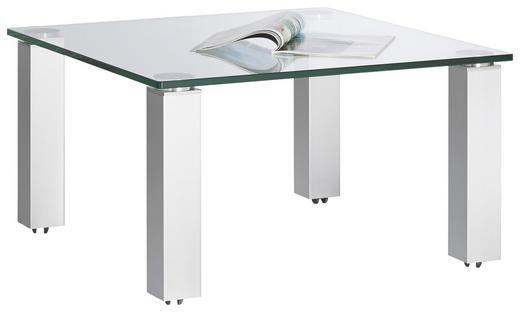 COUCHTISCH quadratisch Silberfarben - Silberfarben, Basics, Glas/Kunststoff (80/80/44cm)