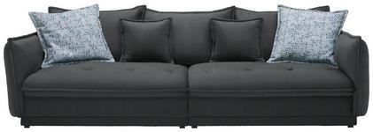 BIGSOFA in Textil Grau - Grau, Design, Textil (295/88/134cm) - Hom`in