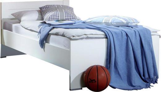 BETT 90/200 cm - Weiß, LIFESTYLE, Holzwerkstoff (90/200cm) - Carryhome