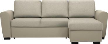 WOHNLANDSCHAFT in Textil Beige  - Beige/Schwarz, Design, Kunststoff/Textil (250/157cm) - Carryhome