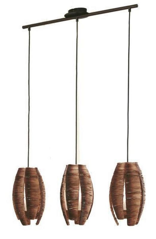 HÄNGELEUCHTE - Braun, KONVENTIONELL, Textil/Metall (70cm)