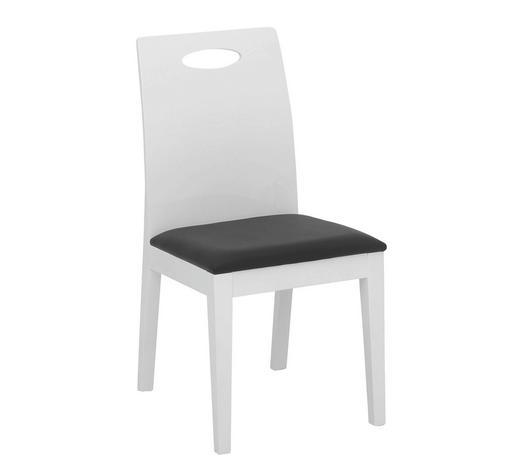 STUHL in Textil, Holzwerkstoff Schwarz, Weiß - Schwarz/Weiß, Design, Holzwerkstoff/Textil (54/91/45cm) - Carryhome