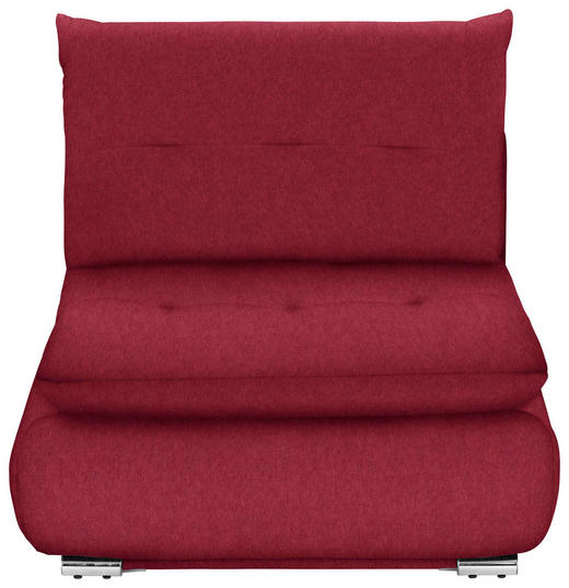 SCHLAFSESSEL in Textil Bordeaux - Chromfarben/Bordeaux, Design, Textil/Metall (94/86/83cm) - Novel
