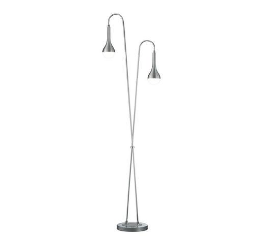 LED-STEHLEUCHTE - Alufarben, Design, Metall (45/161/23cm)