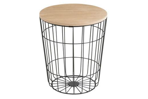 KLUB STOLIĆ - prirodne boje/crna, Design, drvni materijal/metal (34/39cm) - Ti`me