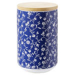 VORRATSDOSE 0.8 L  - Blau/Weiß, LIFESTYLE, Keramik/Holz (10/15cm) - Landscape