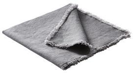 Leinen Serviette 4er Set 50/50 cm   - Anthrazit, KONVENTIONELL, Textil (50/50cm) - Esposa