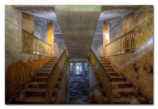 """Architektur BILD """"WHEN THE LAST LIGHT"""" - Multicolor, Basics, Holzwerkstoff/Kunststoff (75/50cm) - Wiedemann"""