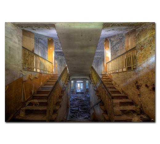 """Architektur BILD """"WHEN THE LAST LIGHT""""  - Multicolor, Basics, Holzwerkstoff/Kunststoff (180/120cm) - Wiedemann"""
