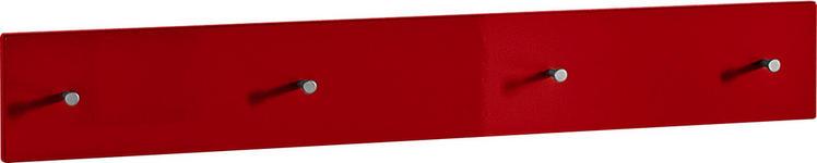 GARDEROBENLEISTE - Rot, Design, Holzwerkstoff (106/15/5cm) - Xora