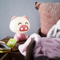 DĚTSKÁ STOLNÍ LAMPA - růžová/pink, Design, umělá hmota (19/19/14cm)