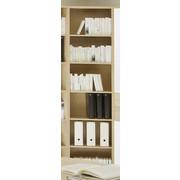 REGAL - boje srebra/hrast Sonoma, Design, drvni materijal/plastika (52/220/35cm) - Boxxx