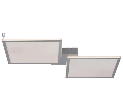 LED-PANEEL - Silberfarben, Design, Kunststoff/Metall (95,5/51/5,2cm)