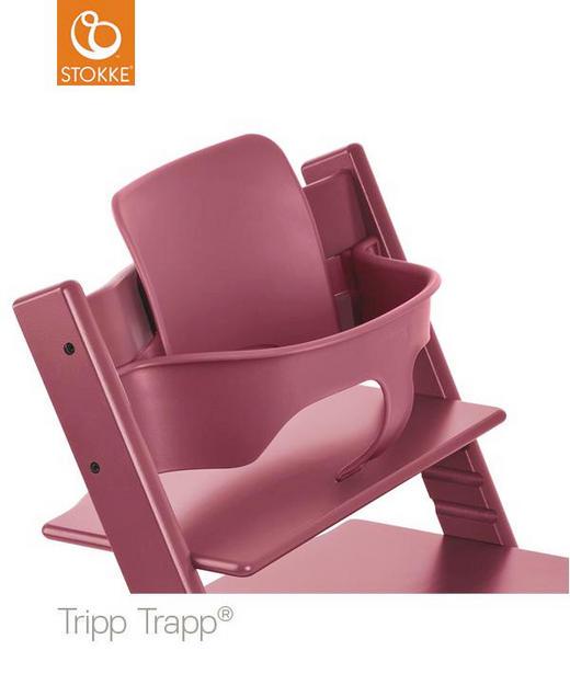 Traipp Trapp Baby Set Heather Pink - Pink/Beere, Basics, Kunststoff (43/19/22cm) - Stokke