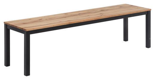 SITZBANK Buche massiv Buchefarben - Buchefarben/Schwarz, Natur, Holz/Metall (160/45/40cm) - Carryhome
